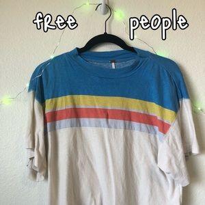 free people rainbow top<3